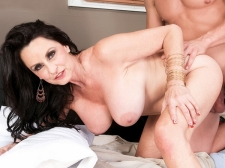 Rita screws her son's big-dicked friend
