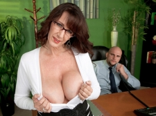 Fucking the monster boobed HORNY HOUSEWIFE who's wearing glasses